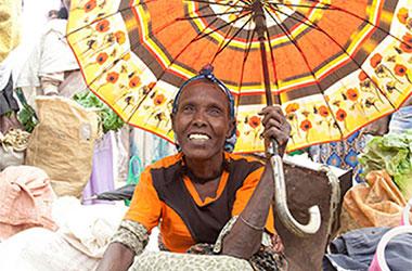 Ethiopian woman at market