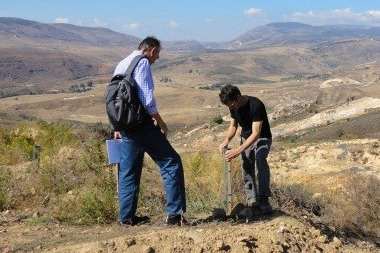 Reforestation project site visit in Lebanon