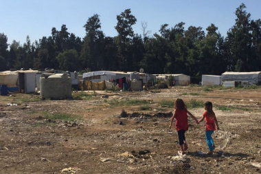 Informal settlement in Akkar, Lebanon