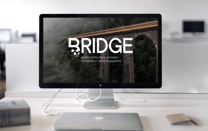Computer screen with BRIDGE logo